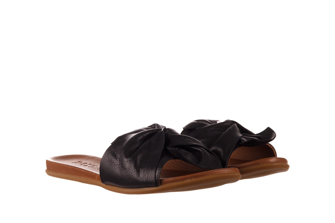 Klapki bayla-190 063 9n0802 black siyah, czarny, skóra naturalna 8