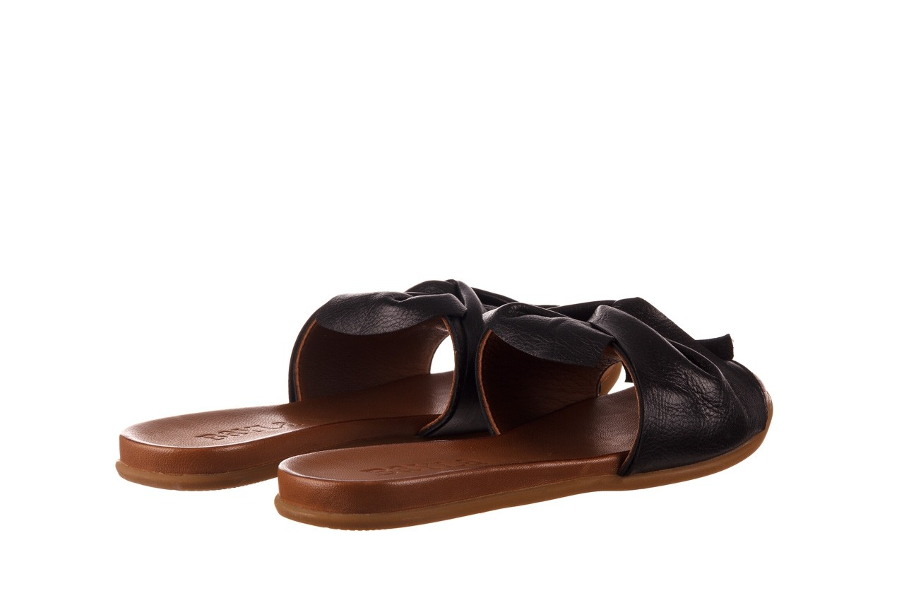 Klapki bayla-190 063 9n0802 black siyah, czarny, skóra naturalna  - kobieta 10