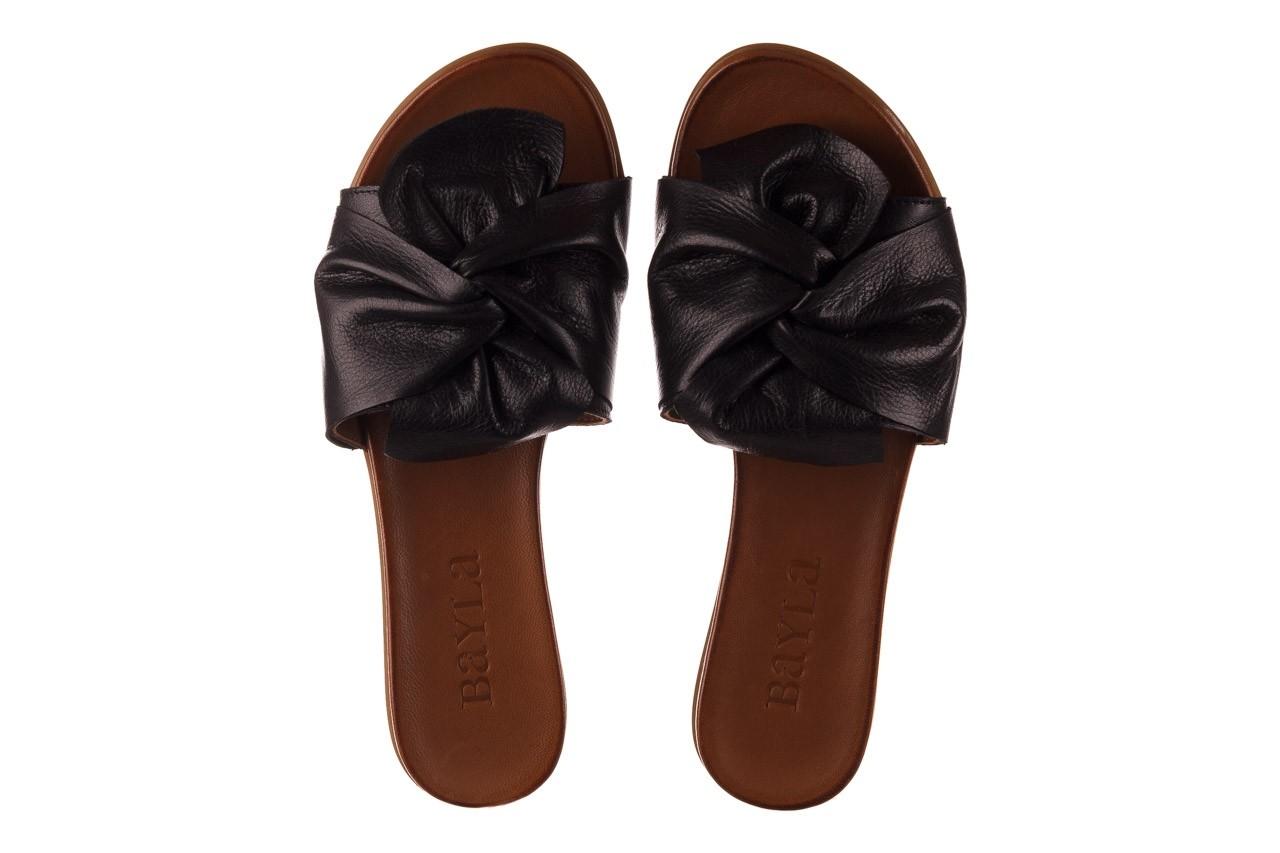 Klapki bayla-190 063 9n0802 black siyah, czarny, skóra naturalna  - klapki - buty damskie - kobieta 11