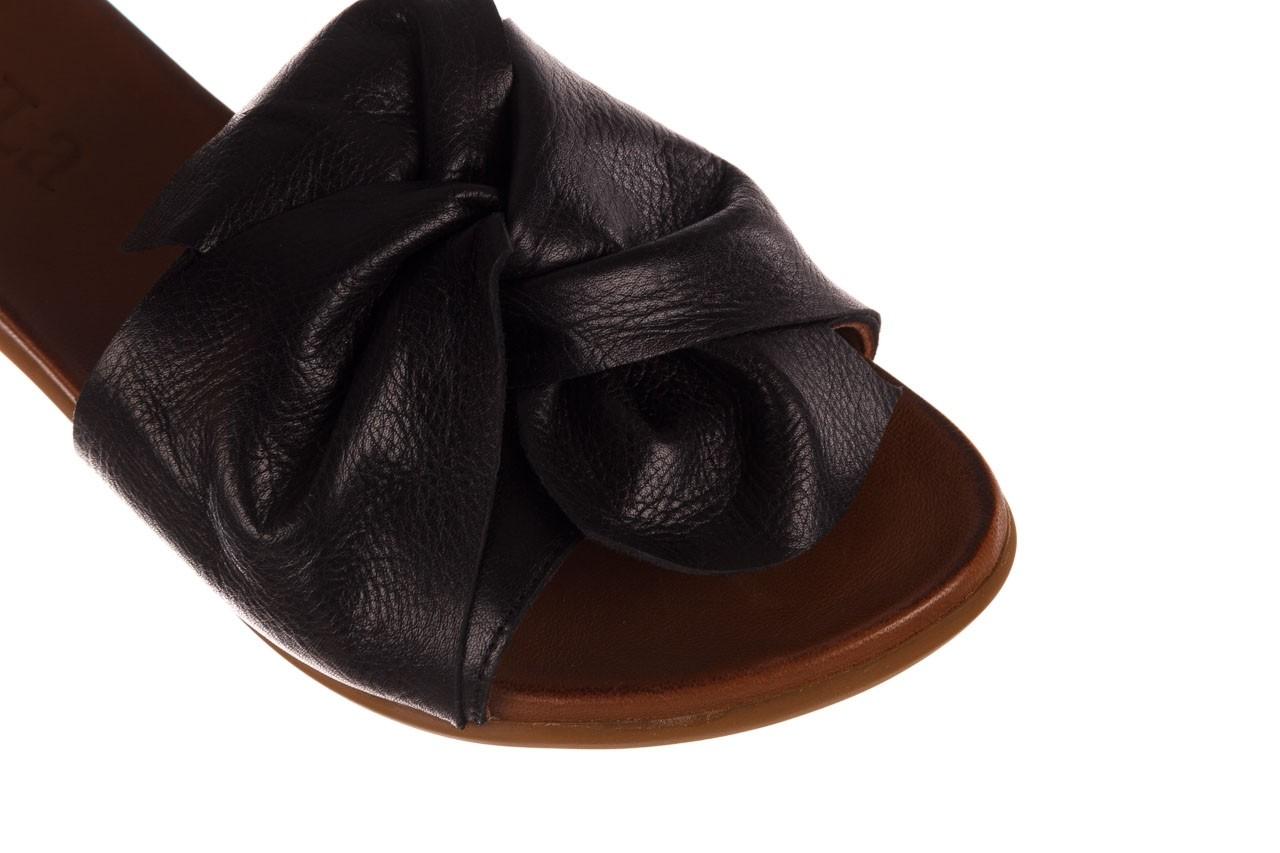 Klapki bayla-190 063 9n0802 black siyah, czarny, skóra naturalna  - klapki - buty damskie - kobieta 12