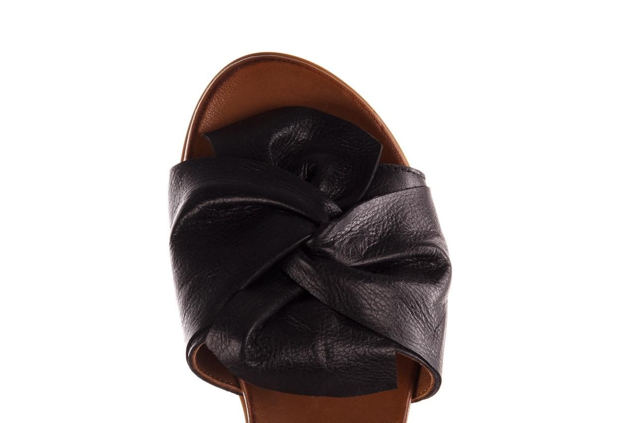 Klapki bayla-190 063 9n0802 black siyah, czarny, skóra naturalna  - klapki - buty damskie - kobieta 13