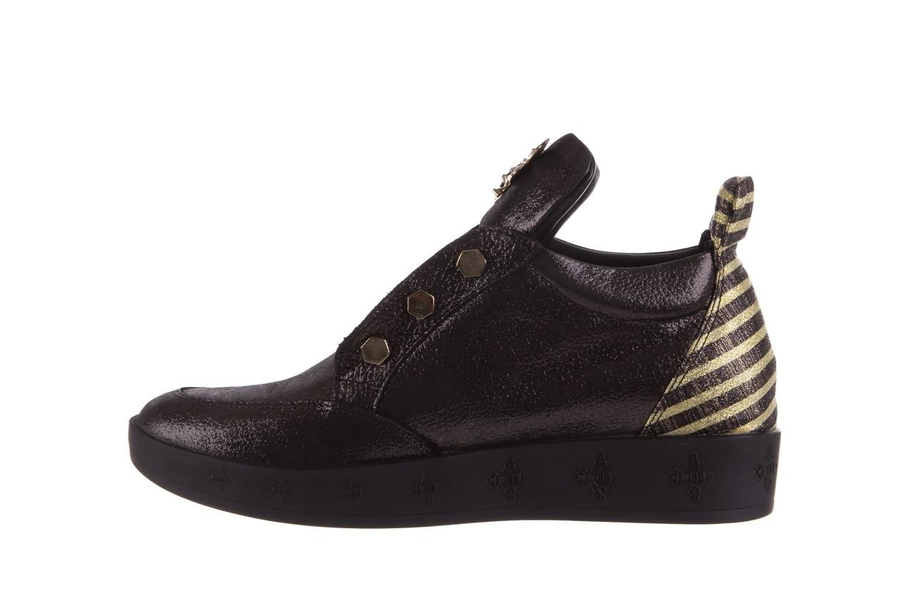 Trampki bayla-179 922 czarne trampki, skóra naturalna  - niskie - trampki - buty damskie - kobieta 10