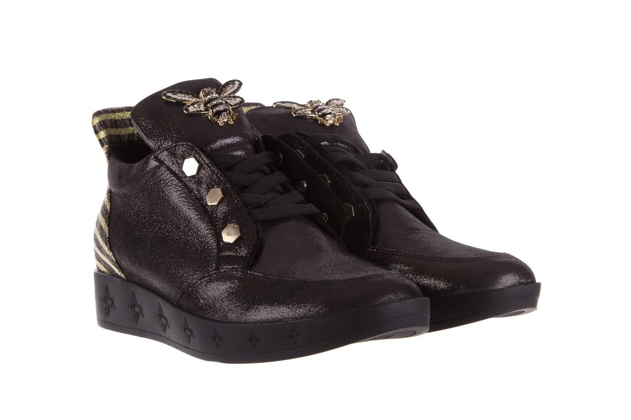 Trampki bayla-179 922 czarne trampki, skóra naturalna  - niskie - trampki - buty damskie - kobieta 9