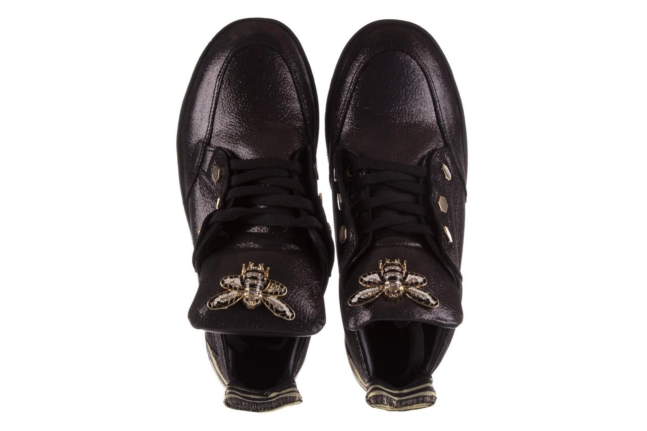 Trampki bayla-179 922 czarne trampki, skóra naturalna  - niskie - trampki - buty damskie - kobieta 12