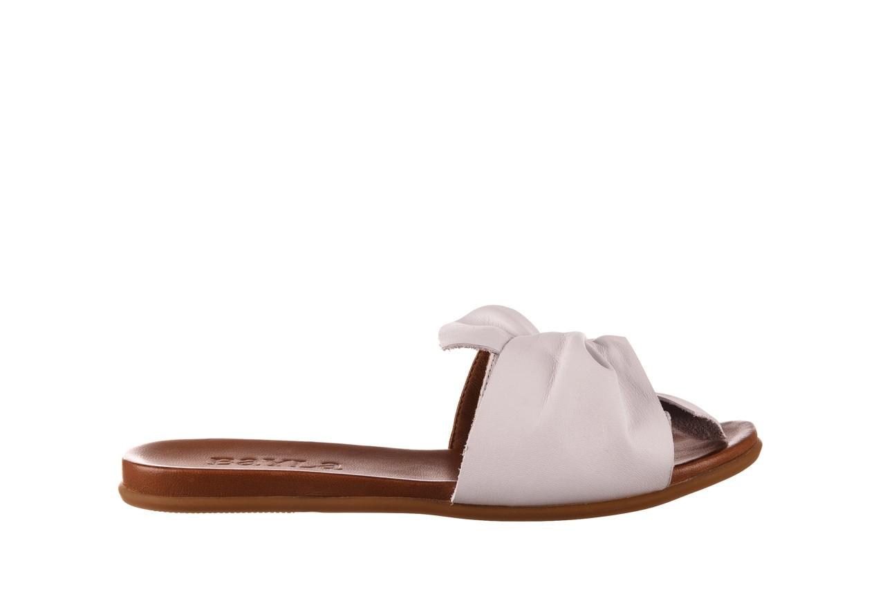 Klapki bayla-190 063 9n0802 white beyaz, biały, skóra naturalna  - klapki - buty damskie - kobieta 7