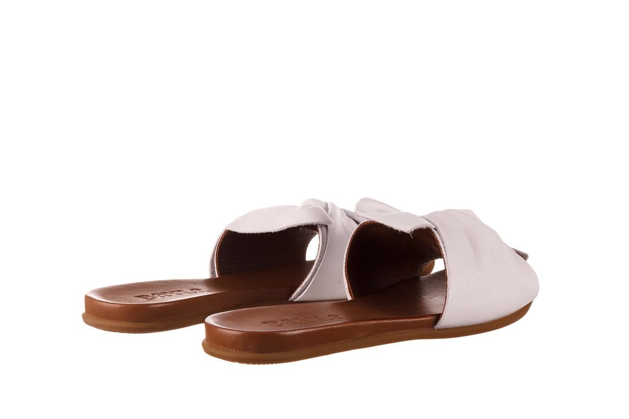 Klapki bayla-190 063 9n0802 white beyaz, biały, skóra naturalna  - klapki - buty damskie - kobieta 10