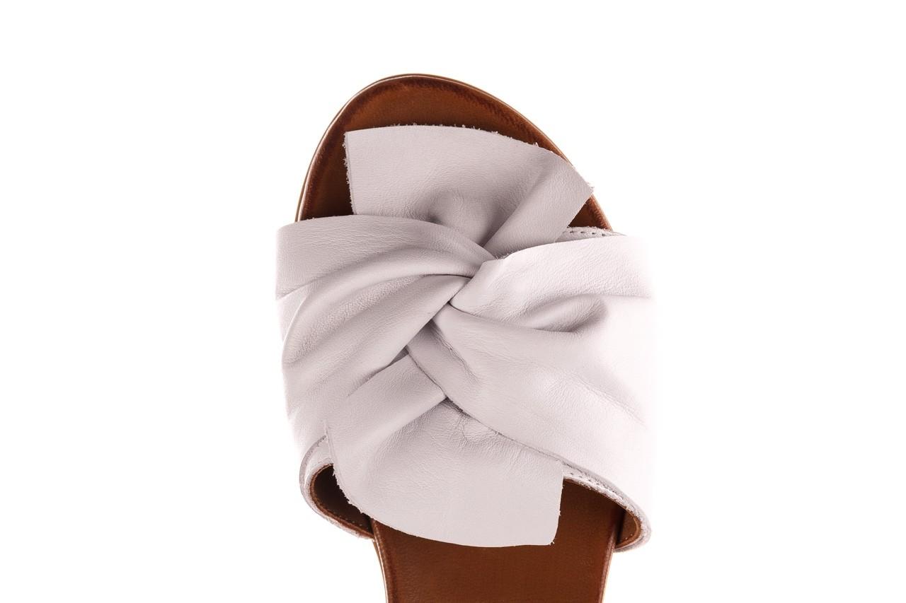 Klapki bayla-190 063 9n0802 white beyaz, biały, skóra naturalna  - klapki - buty damskie - kobieta 13