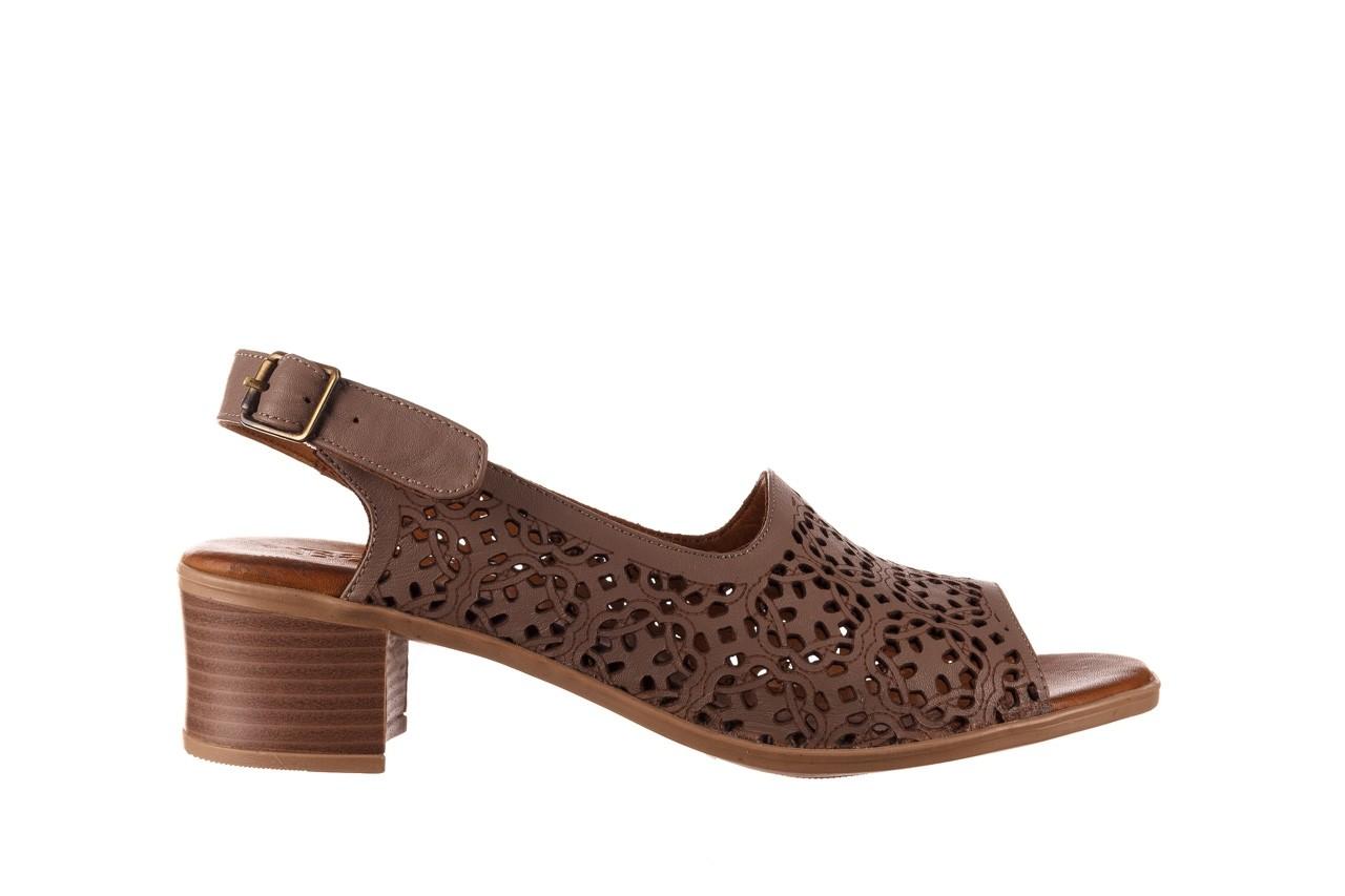 Sandały bayla-190 409 243 20, beż, skóra naturalna  - skórzane - sandały - buty damskie - kobieta 8