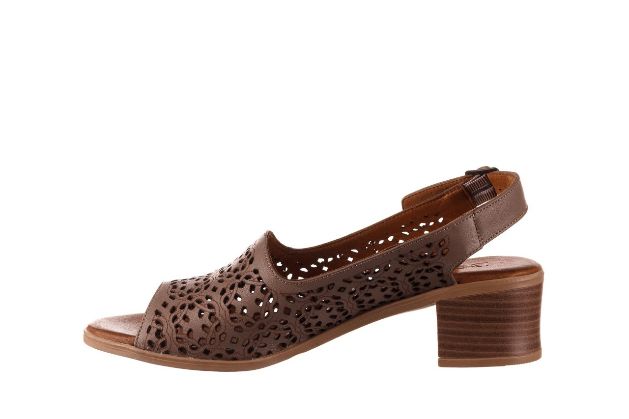 Sandały bayla-190 409 243 20, beż, skóra naturalna  - skórzane - sandały - buty damskie - kobieta 10