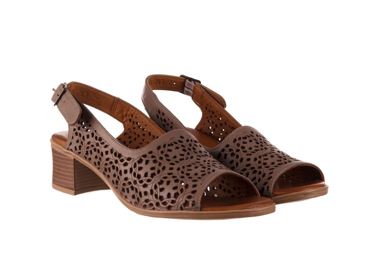 Sandały bayla-190 409 243 20, beż, skóra naturalna  - skórzane - sandały - buty damskie - kobieta 9