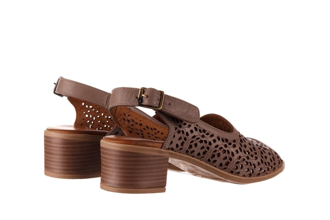 Sandały bayla-190 409 243 20, beż, skóra naturalna  - skórzane - sandały - buty damskie - kobieta 11
