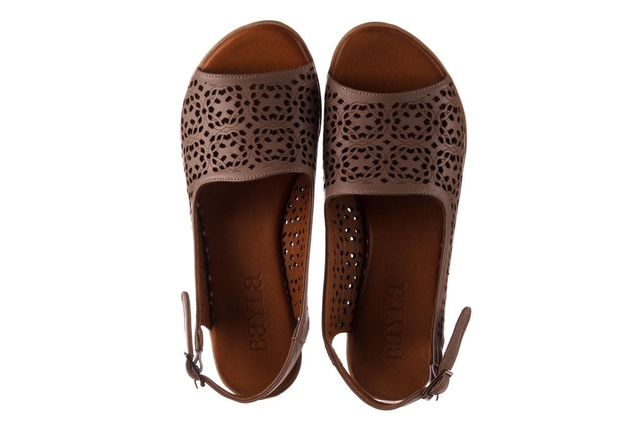 Sandały bayla-190 409 243 20, beż, skóra naturalna  - skórzane - sandały - buty damskie - kobieta 12