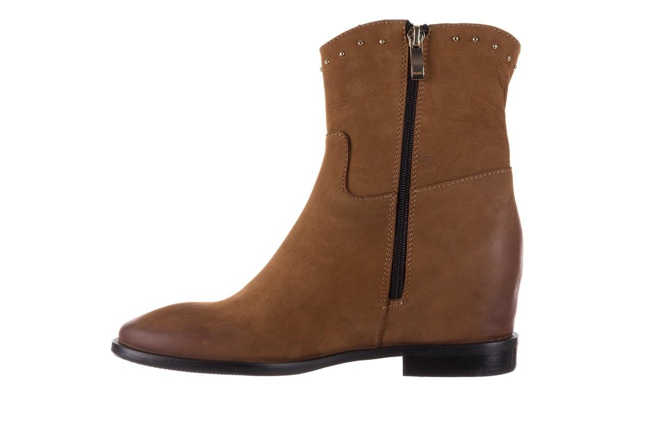 Botki bayla-170 2126 brązowe botki, skóra naturalna - koturny - buty damskie - kobieta 10
