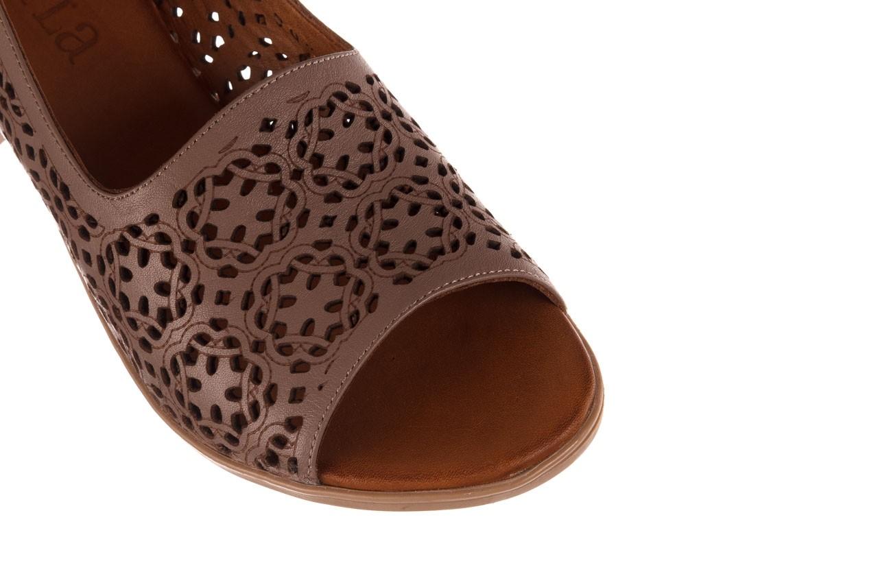 Sandały bayla-190 409 243 20, beż, skóra naturalna  - skórzane - sandały - buty damskie - kobieta 13