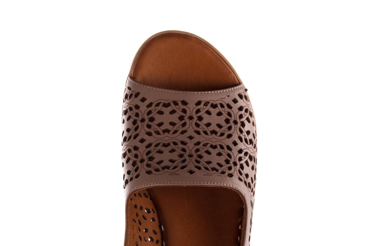 Sandały bayla-190 409 243 20, beż, skóra naturalna  - skórzane - sandały - buty damskie - kobieta 15