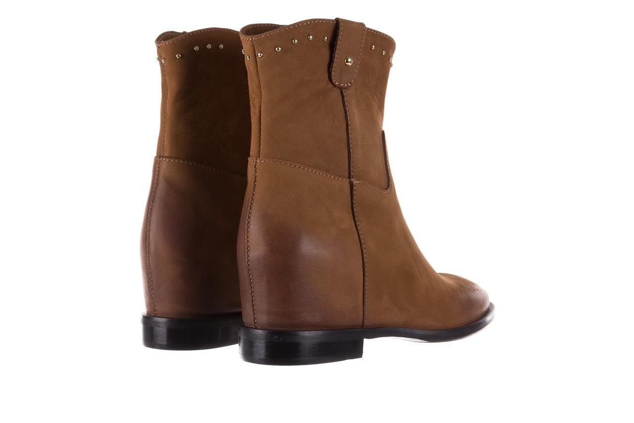 Botki bayla-170 2126 brązowe botki, skóra naturalna - koturny - buty damskie - kobieta 11