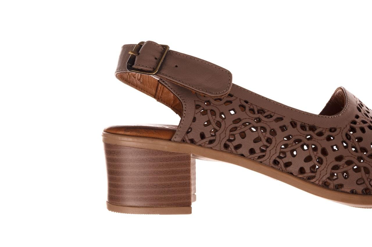 Sandały bayla-190 409 243 20, beż, skóra naturalna  - skórzane - sandały - buty damskie - kobieta 14