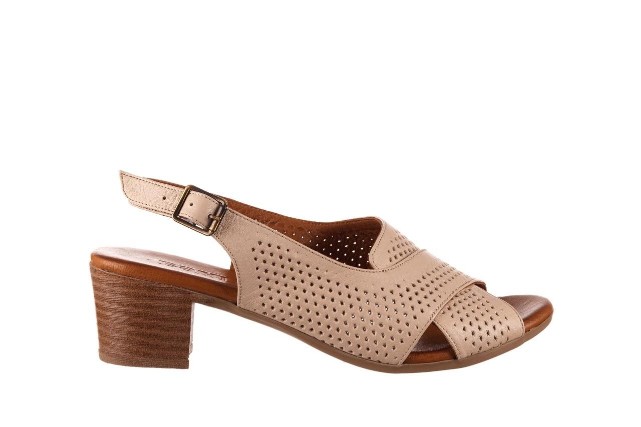 Sandały bayla-190 409 475 03, beż, skóra naturalna  - na obcasie - sandały - buty damskie - kobieta 8