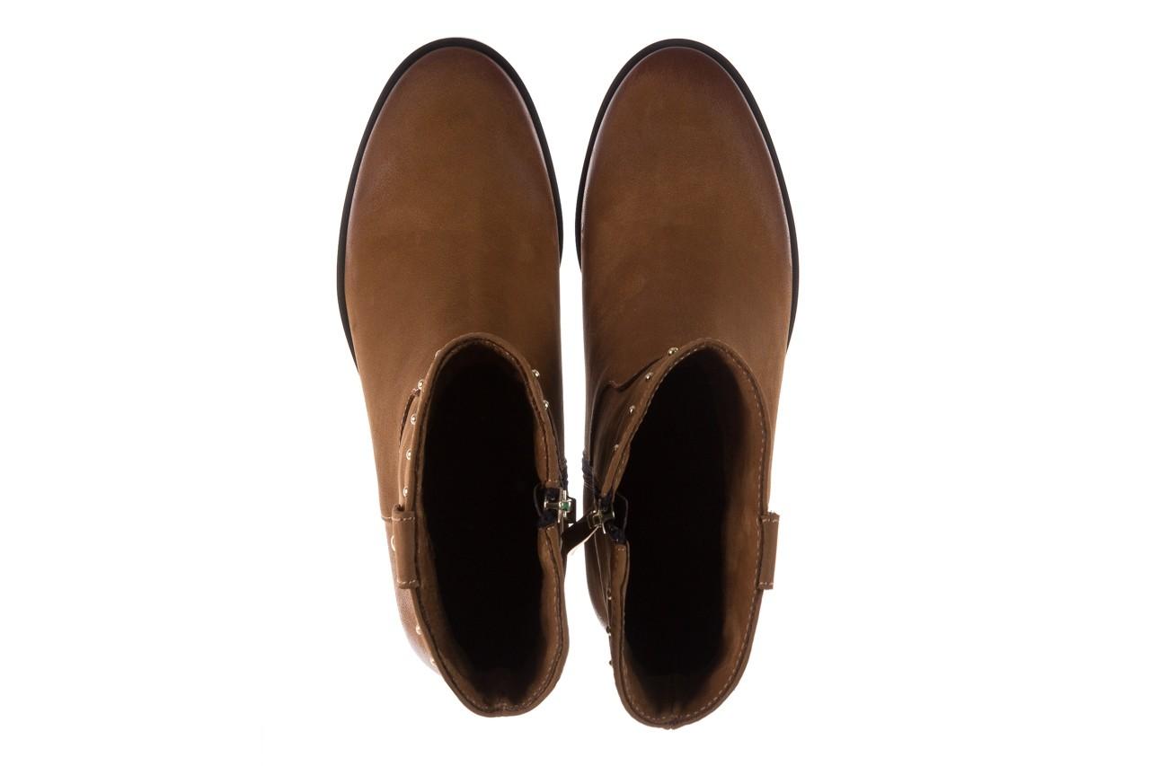 Botki bayla-170 2126 brązowe botki, skóra naturalna - koturny - buty damskie - kobieta 12