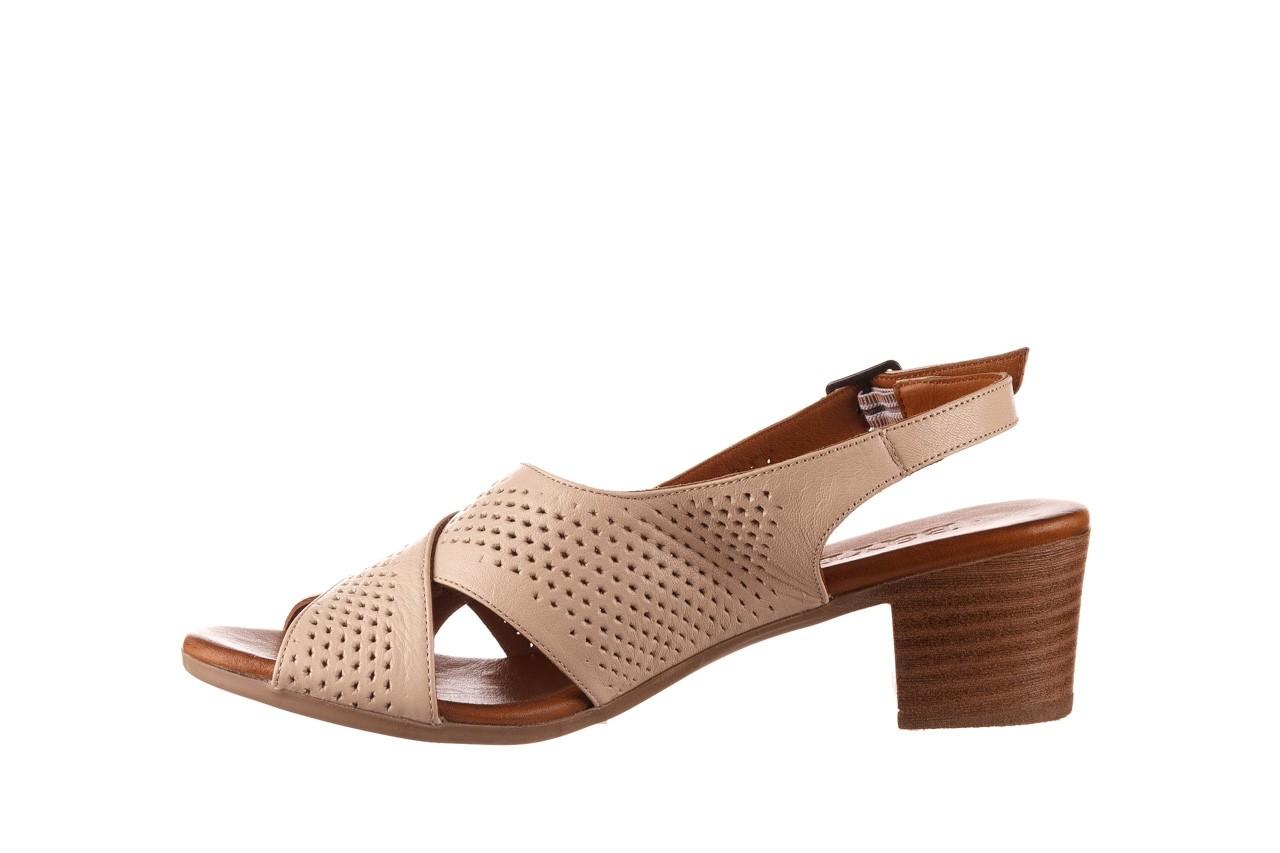 Sandały bayla-190 409 475 03, beż, skóra naturalna  - na obcasie - sandały - buty damskie - kobieta 10