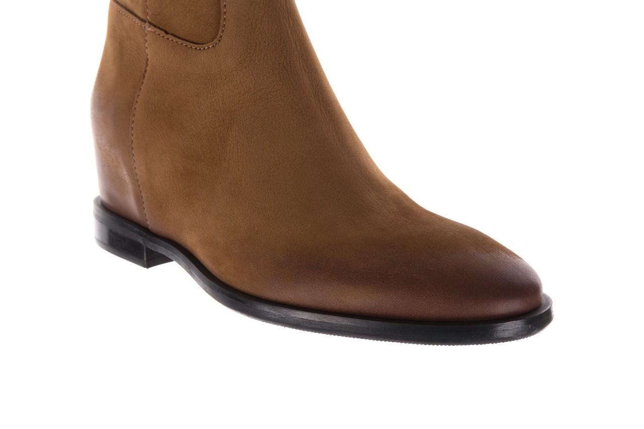 Botki bayla-170 2126 brązowe botki, skóra naturalna - koturny - buty damskie - kobieta 13