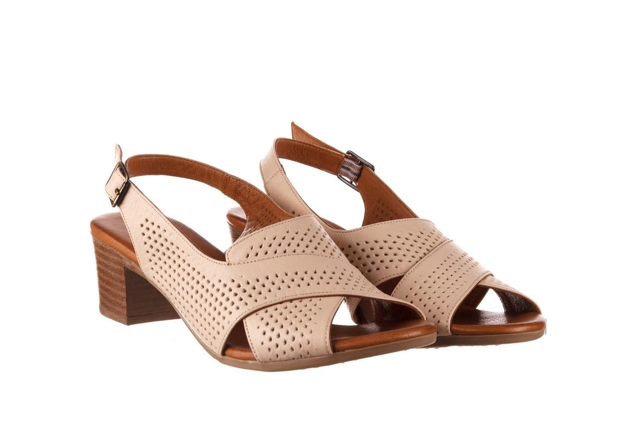 Sandały bayla-190 409 475 03, beż, skóra naturalna  - na obcasie - sandały - buty damskie - kobieta 9