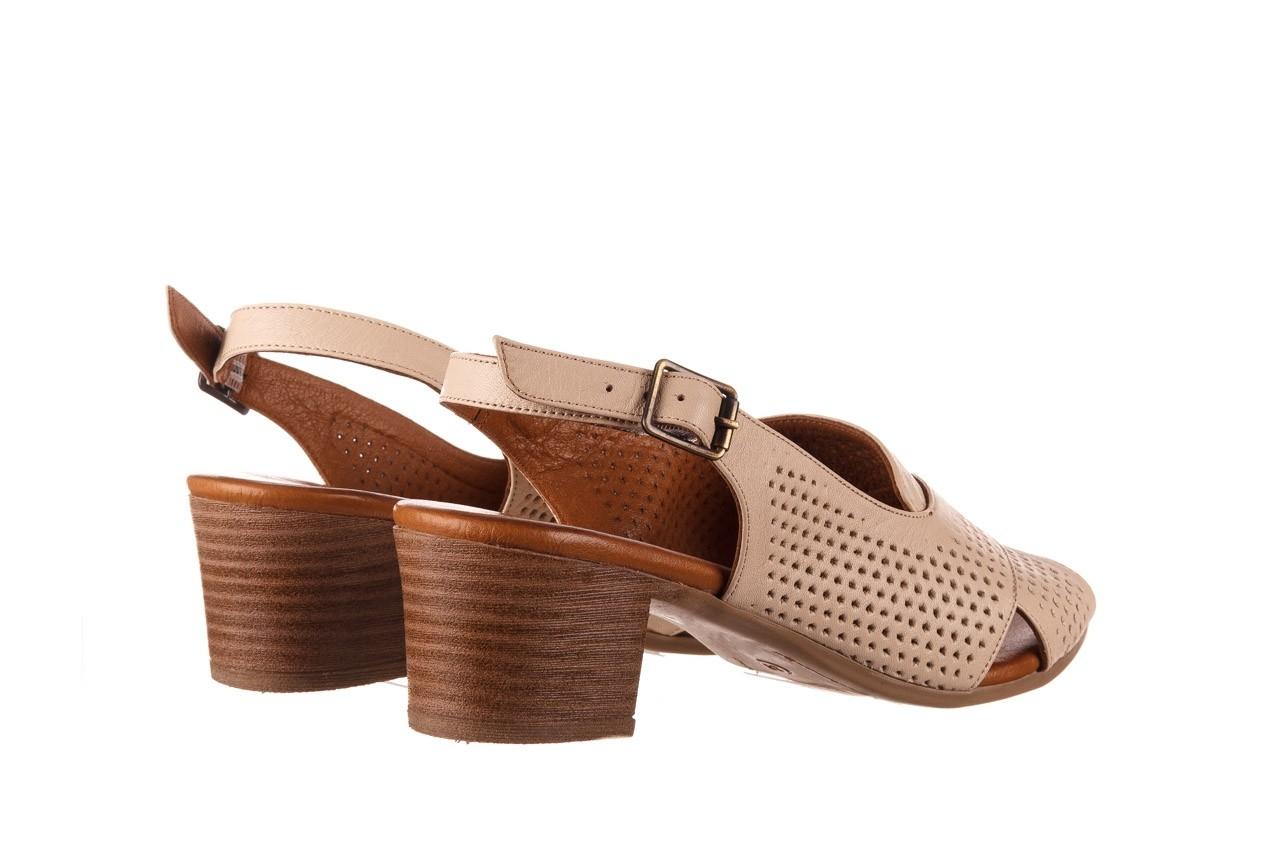 Sandały bayla-190 409 475 03, beż, skóra naturalna  - na obcasie - sandały - buty damskie - kobieta 11