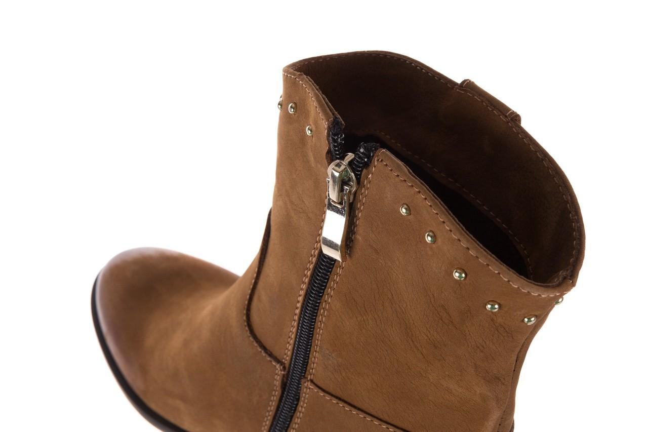 Botki bayla-170 2126 brązowe botki, skóra naturalna - koturny - buty damskie - kobieta 15