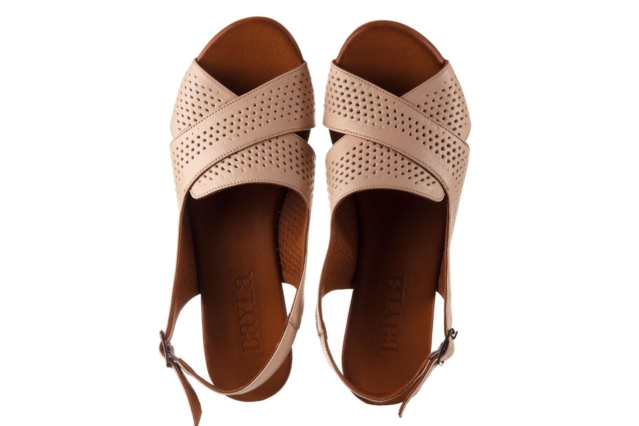 Sandały bayla-190 409 475 03, beż, skóra naturalna  - na obcasie - sandały - buty damskie - kobieta 12