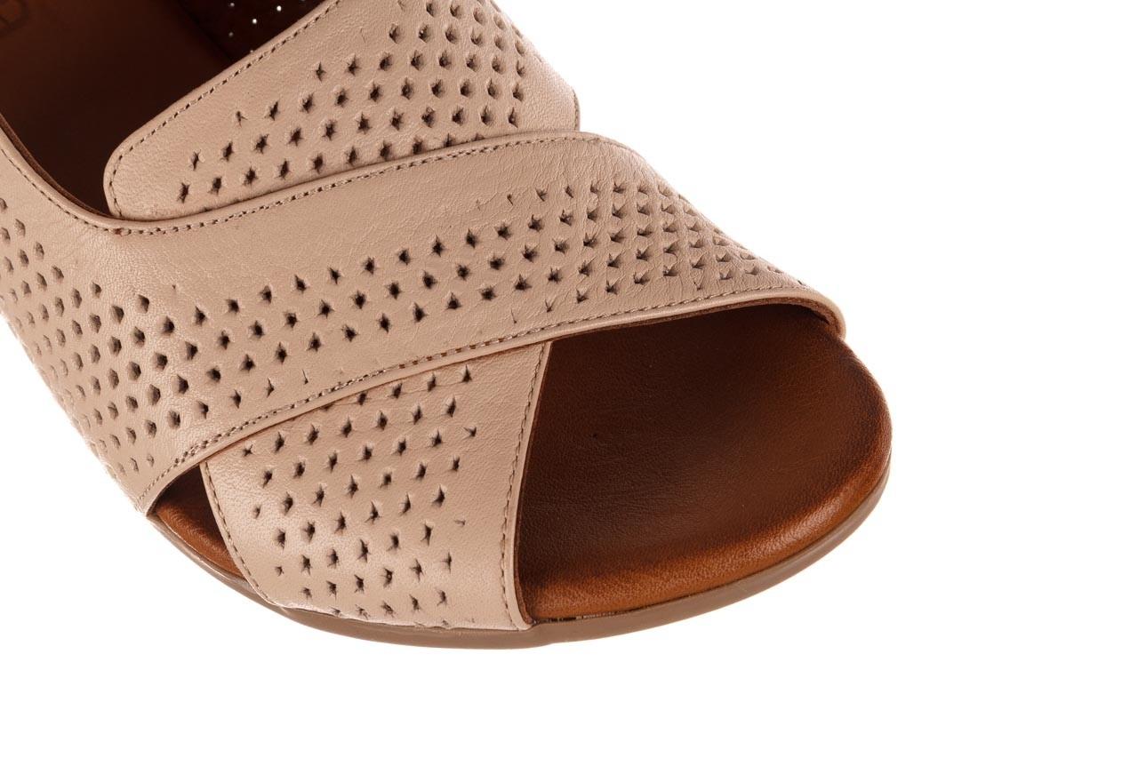 Sandały bayla-190 409 475 03, beż, skóra naturalna  - na obcasie - sandały - buty damskie - kobieta 13