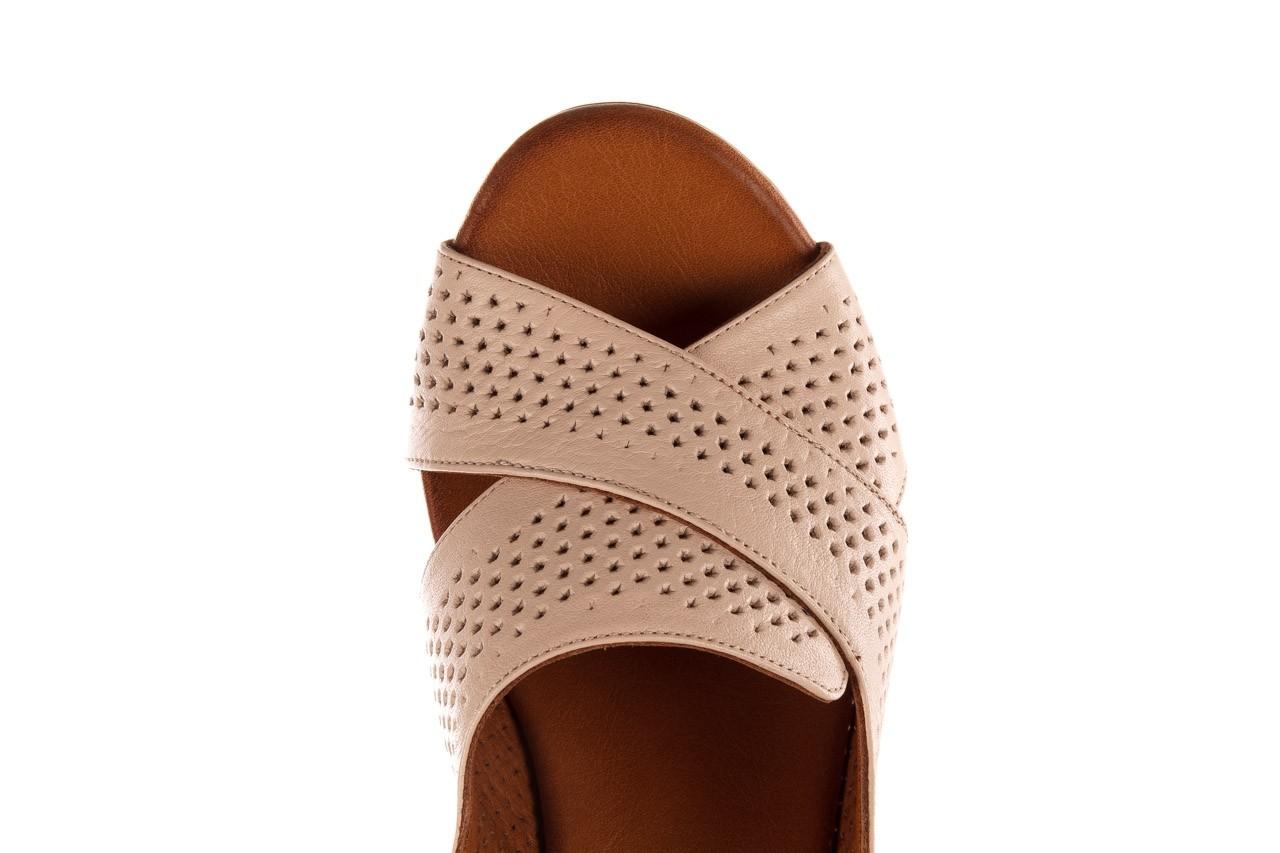 Sandały bayla-190 409 475 03, beż, skóra naturalna  - na obcasie - sandały - buty damskie - kobieta 14