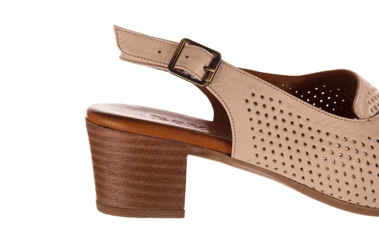 Sandały bayla-190 409 475 03, beż, skóra naturalna  - na obcasie - sandały - buty damskie - kobieta 15
