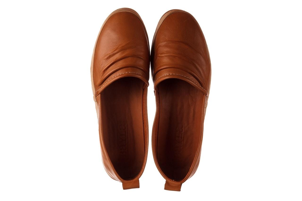 Półbuty bayla-190 515 772 taba-bej, brąz, skóra naturalna  - półbuty - buty damskie - kobieta 12