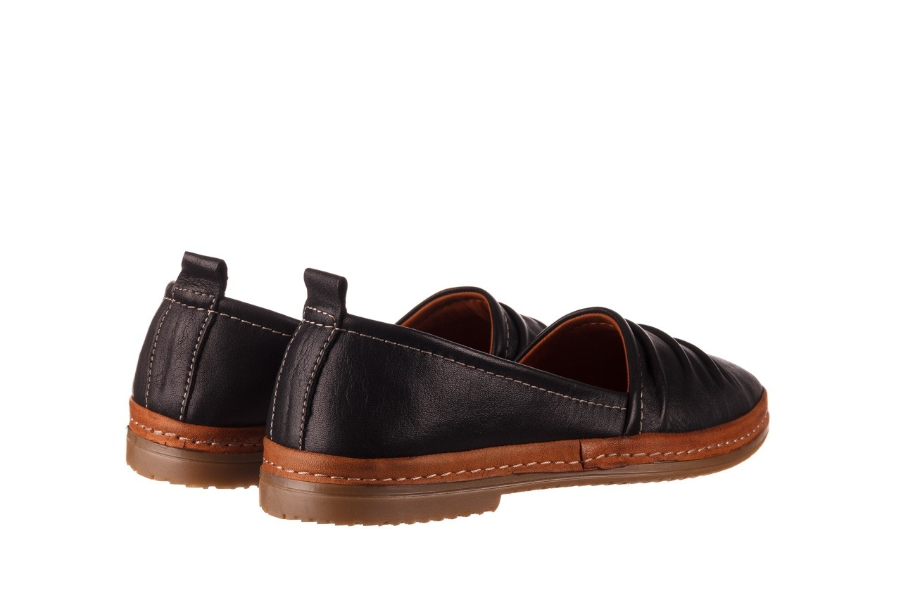 Półbuty bayla-190 515 772 siyah-taba, czarny, skóra naturalna  - skórzane - półbuty - buty damskie - kobieta 11