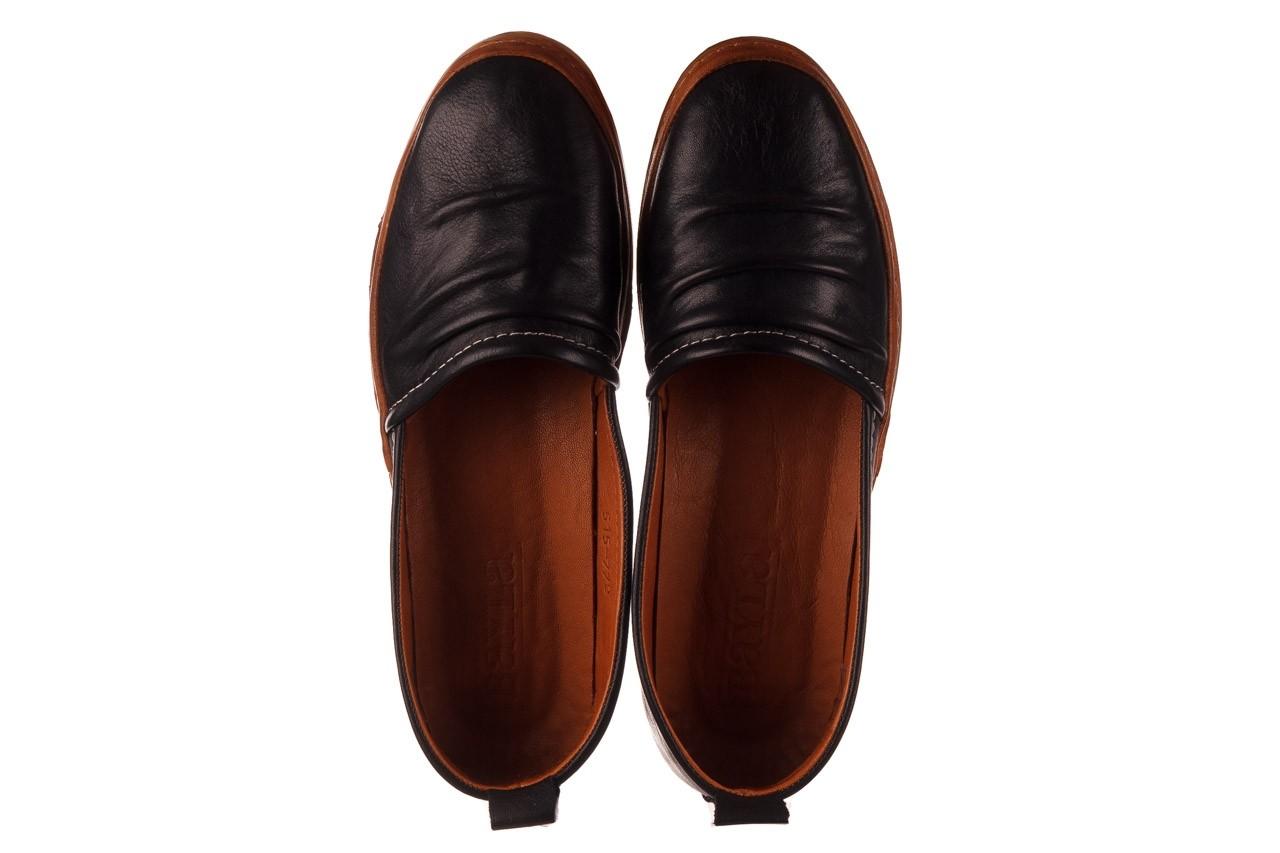 Półbuty bayla-190 515 772 siyah-taba, czarny, skóra naturalna  - skórzane - półbuty - buty damskie - kobieta 12