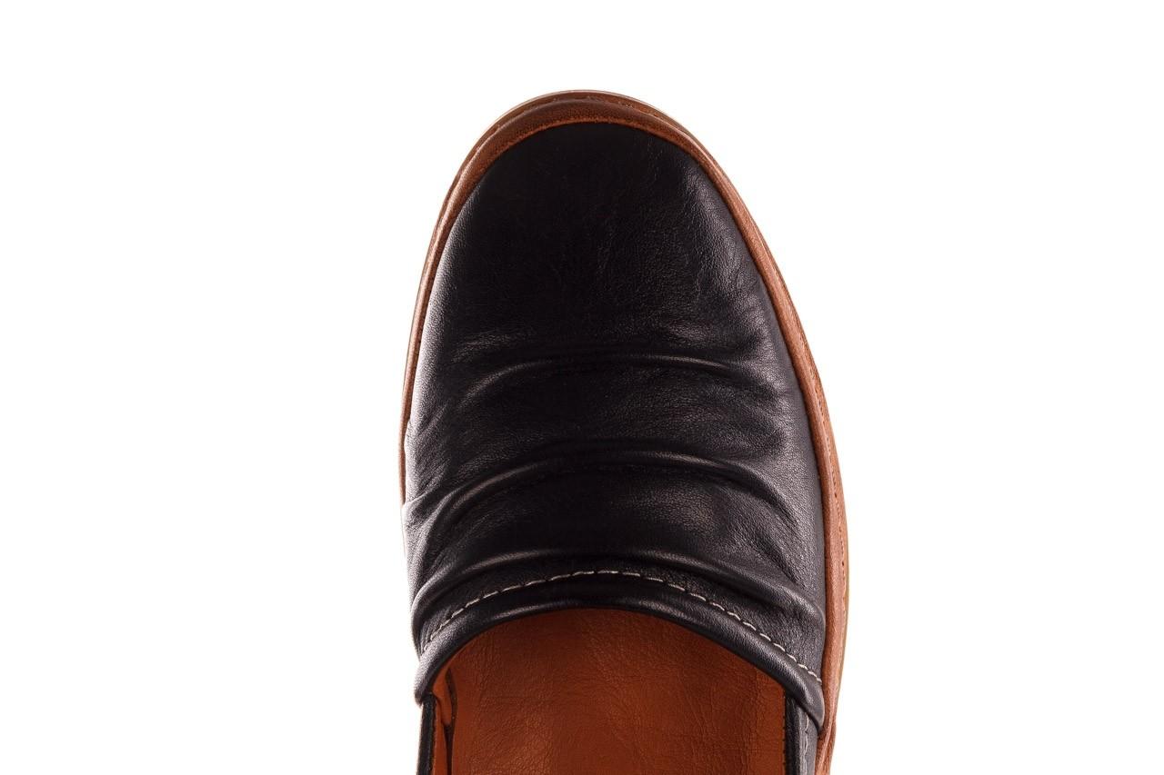 Półbuty bayla-190 515 772 siyah-taba, czarny, skóra naturalna  - skórzane - półbuty - buty damskie - kobieta 14