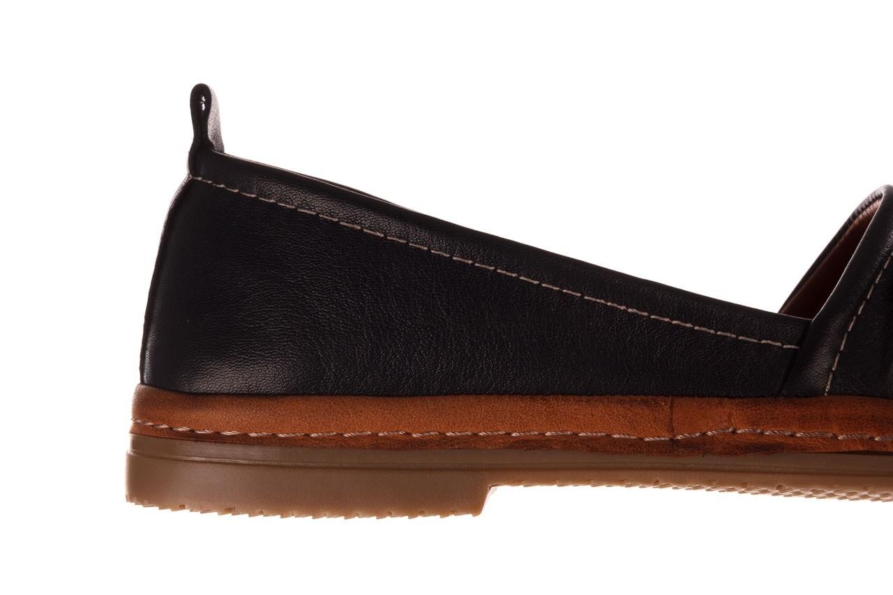 Półbuty bayla-190 515 772 siyah-taba, czarny, skóra naturalna  - skórzane - półbuty - buty damskie - kobieta 15