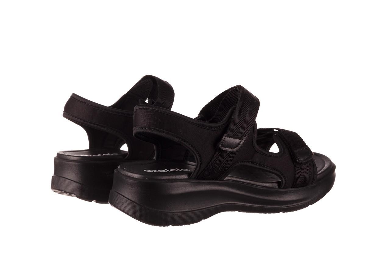 Sandały azaleia 330 560 black, czarny, materiał  - kobieta 11
