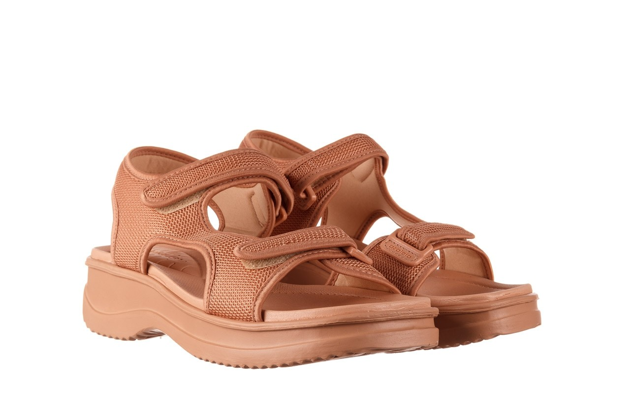Sandały azaleia 320 323 nude 20, róż, materiał - płaskie - sandały - buty damskie - kobieta 10