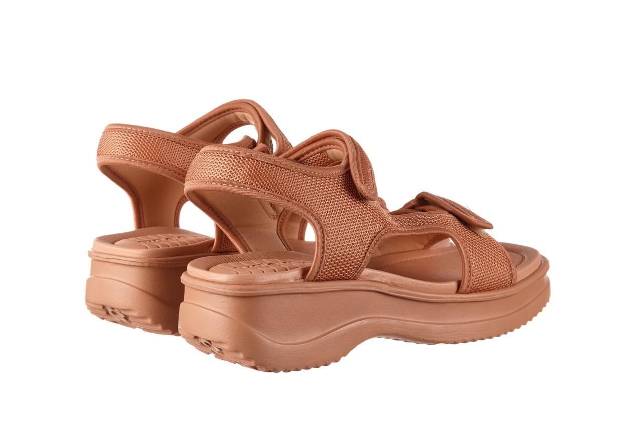 Sandały azaleia 320 323 nude 20, róż, materiał - płaskie - sandały - buty damskie - kobieta 12