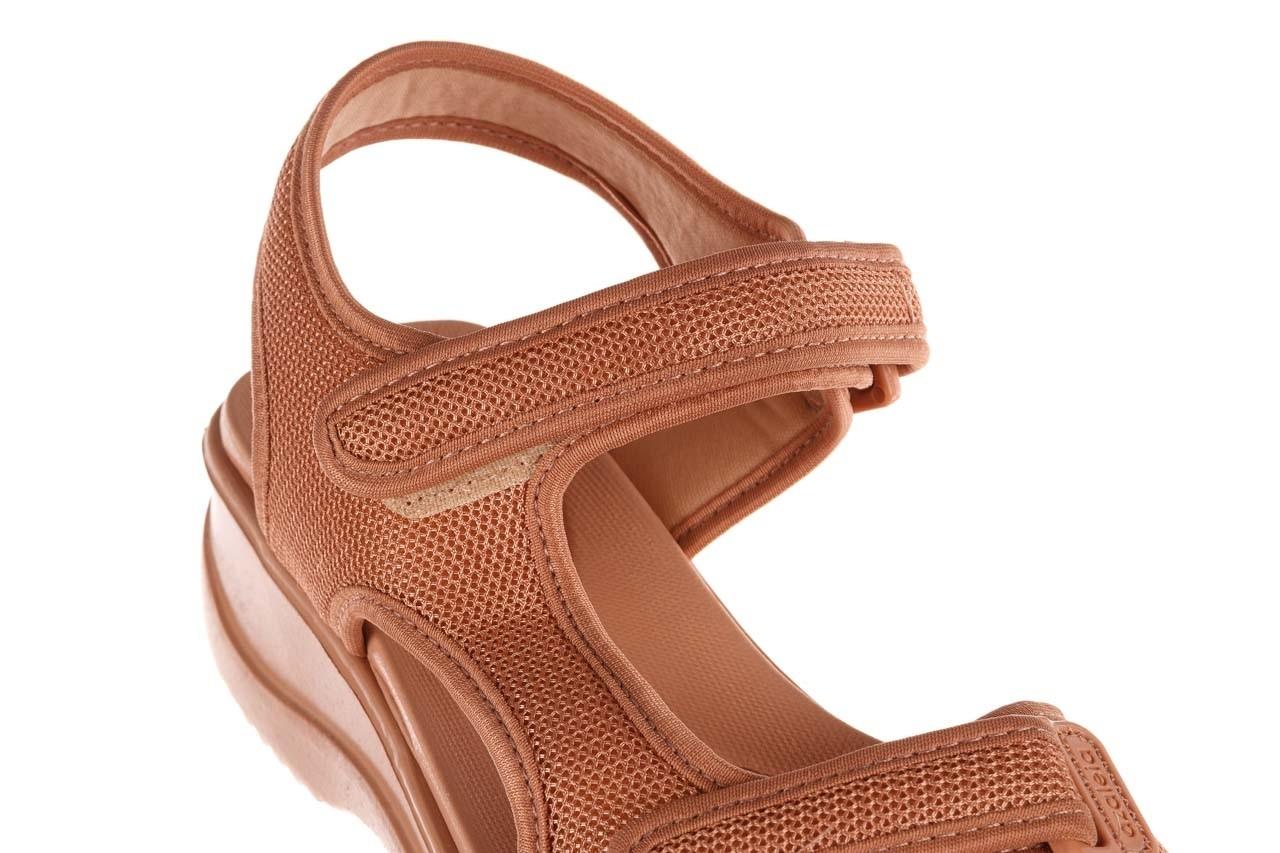Sandały azaleia 320 323 nude 20, róż, materiał - płaskie - sandały - buty damskie - kobieta 15