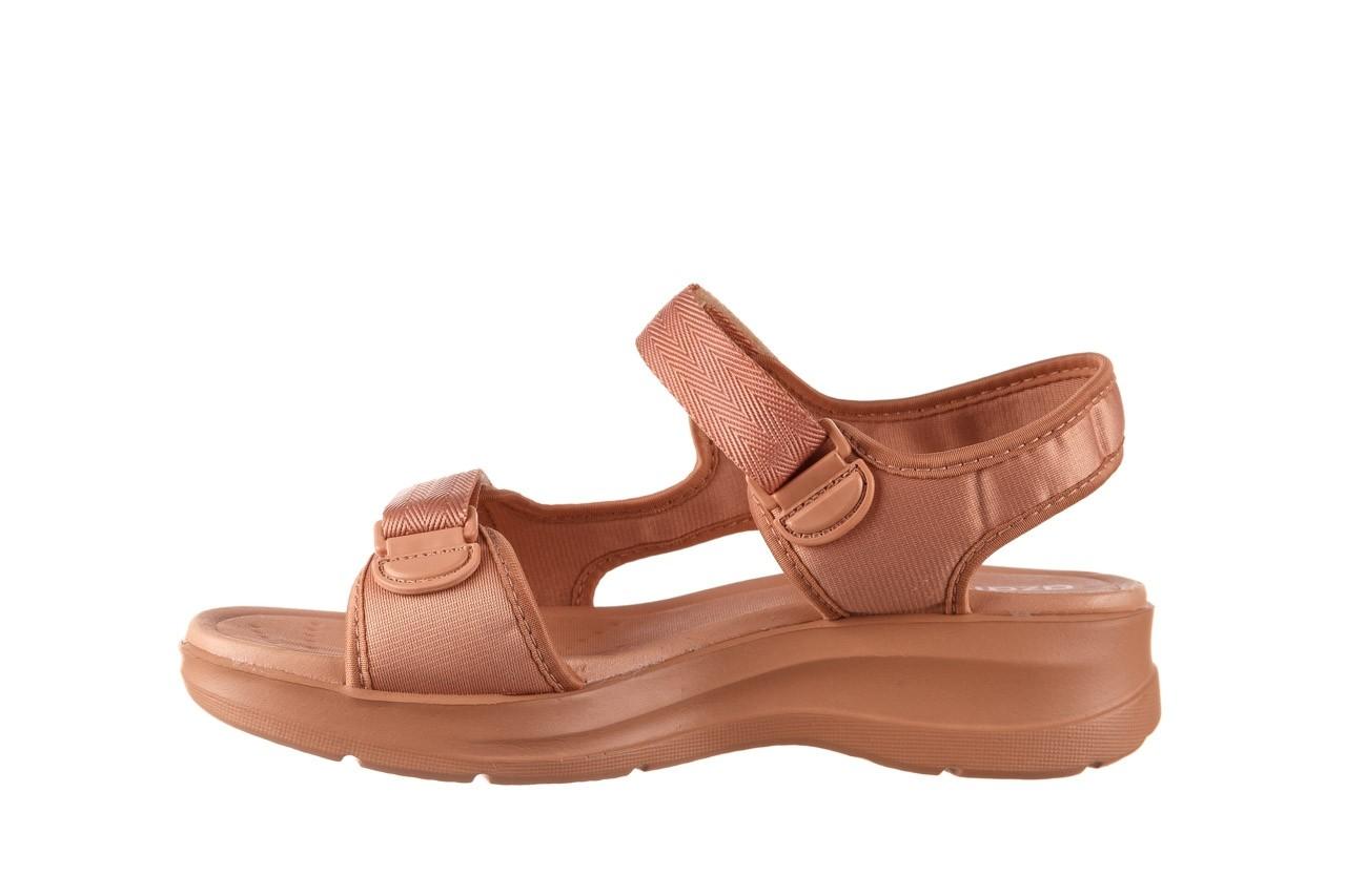 Sandały azaleia 330 560 nude, róż, materiał - płaskie - sandały - buty damskie - kobieta 10