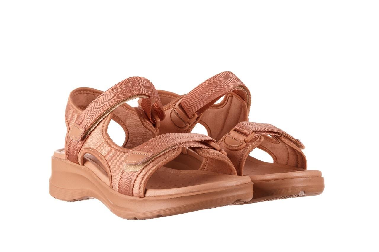 Sandały azaleia 330 560 nude, róż, materiał - płaskie - sandały - buty damskie - kobieta 9