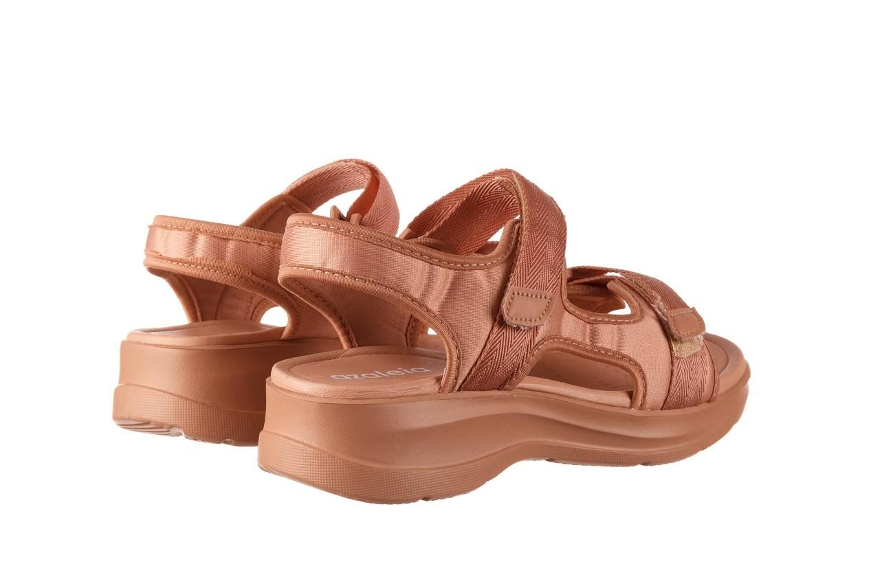 Sandały azaleia 330 560 nude, róż, materiał - płaskie - sandały - buty damskie - kobieta 11