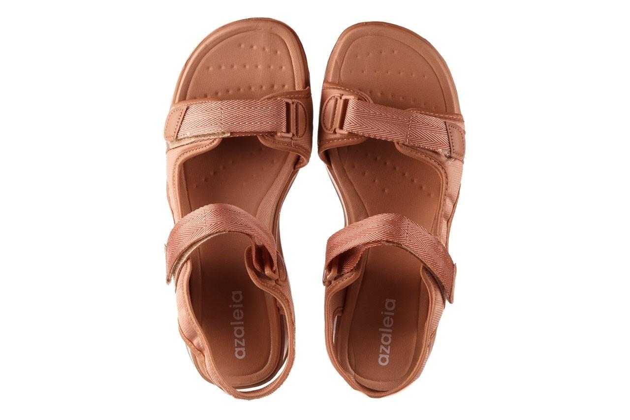 Sandały azaleia 330 560 nude, róż, materiał - płaskie - sandały - buty damskie - kobieta 12