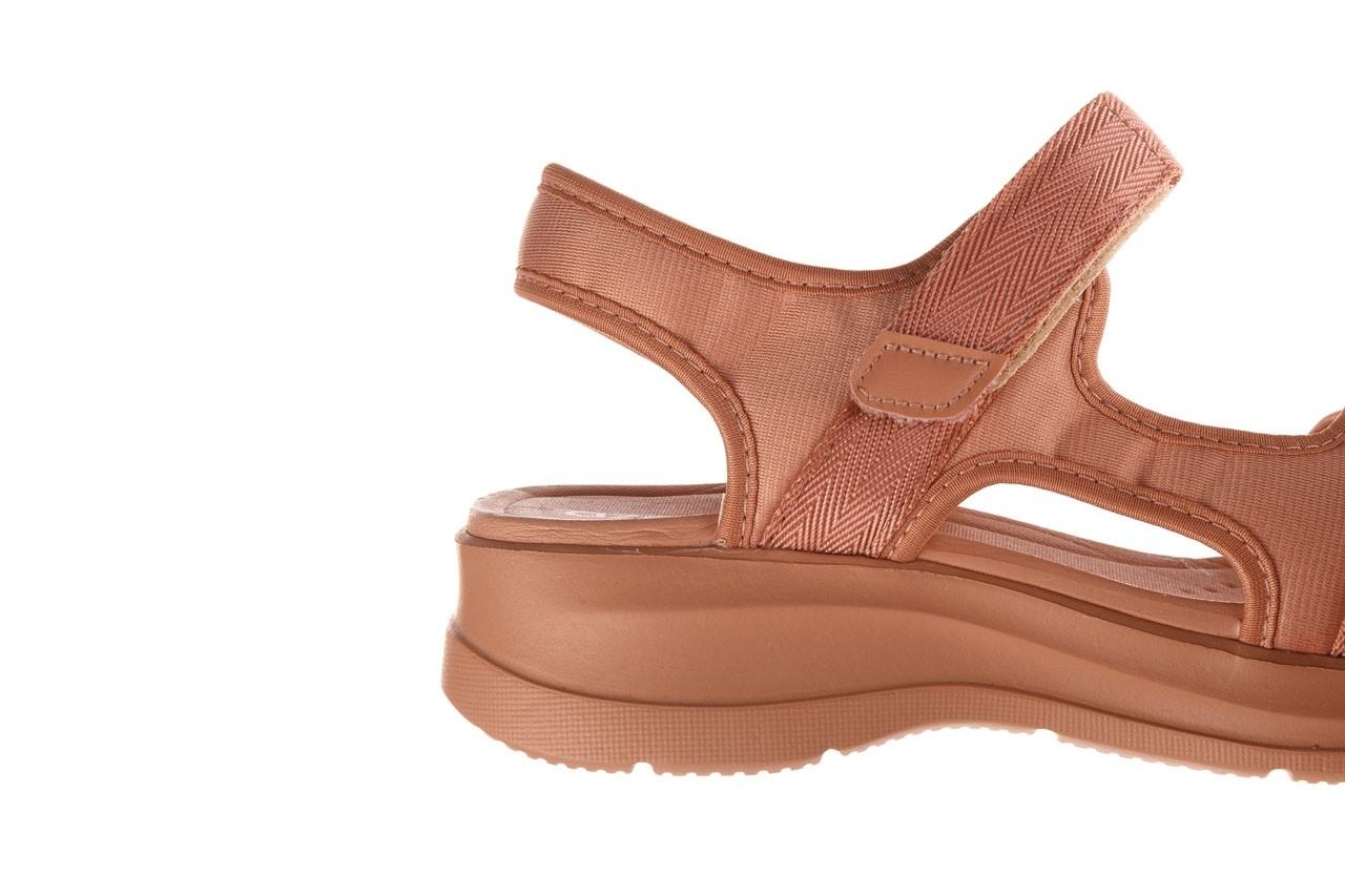 Sandały azaleia 330 560 nude, róż, materiał - płaskie - sandały - buty damskie - kobieta 14