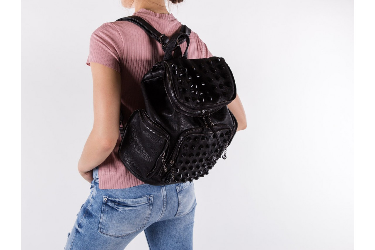 Plecak bayla-150 plecak s16-277 black, czarny, skóra ekologiczna  - akcesoria - kobieta 11