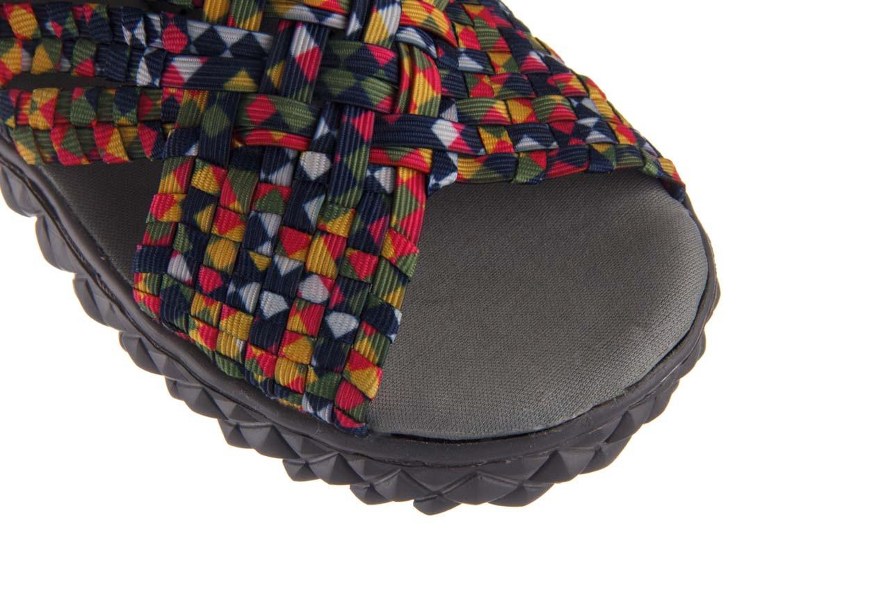 Sandały rock dakota fuchsia yellow green blue smoke, wielokolorowy, materiał - sandały - buty damskie - kobieta 12