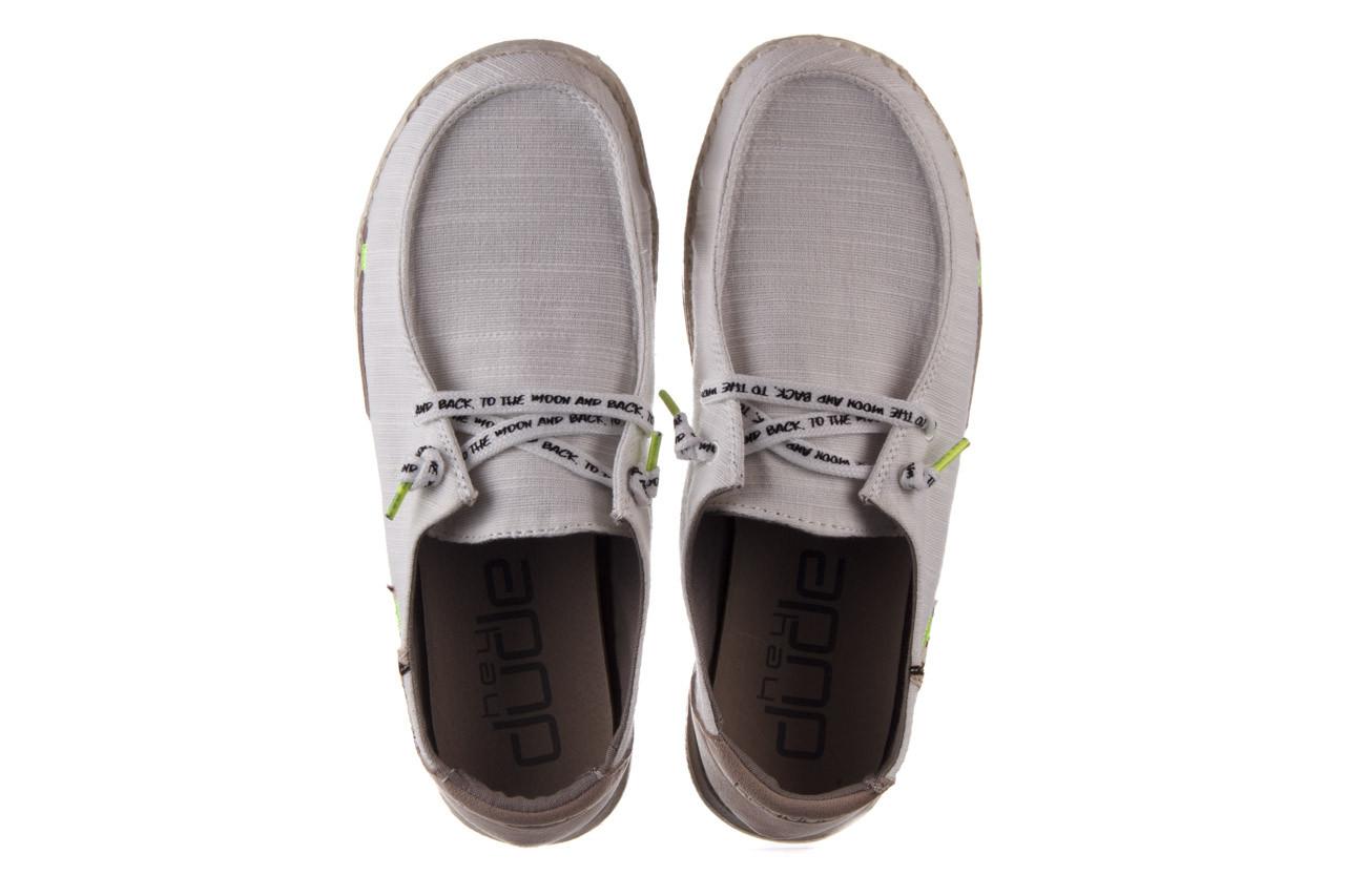 Półbuty heydude wendy star white, biały, materiał - sznurowane - półbuty - buty damskie - kobieta 12