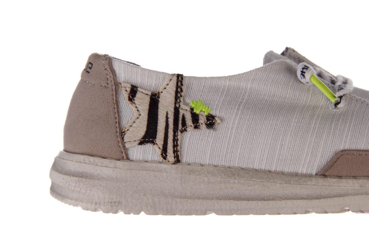 Półbuty heydude wendy star white, biały, materiał - sznurowane - półbuty - buty damskie - kobieta 15